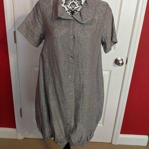 Super cute linen dress by Chalet Bubble hem Size S
